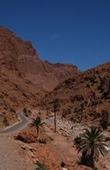 On the road above the Todra Gorge - Morocco