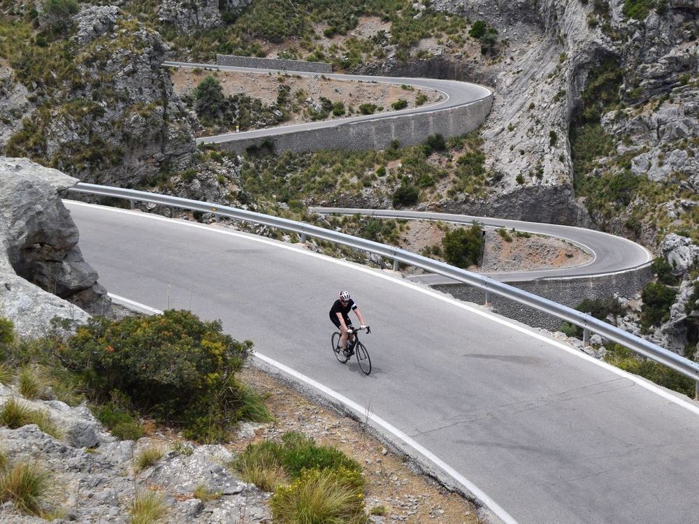 Our amazing circuit of the sun drenched Island. A beautiful mixture of country backlanes, beaches, old towns and tiny cobbled streets, as well as , of course, the famous mountains of Puig Maior and Sa Calobra!
